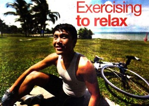 Exercising to relax_image